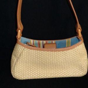 Fossil Woven Shoulder Bag w/2 Pockets